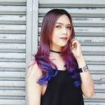 How to Achieve Purple Balayage + Bleached Hair Tips