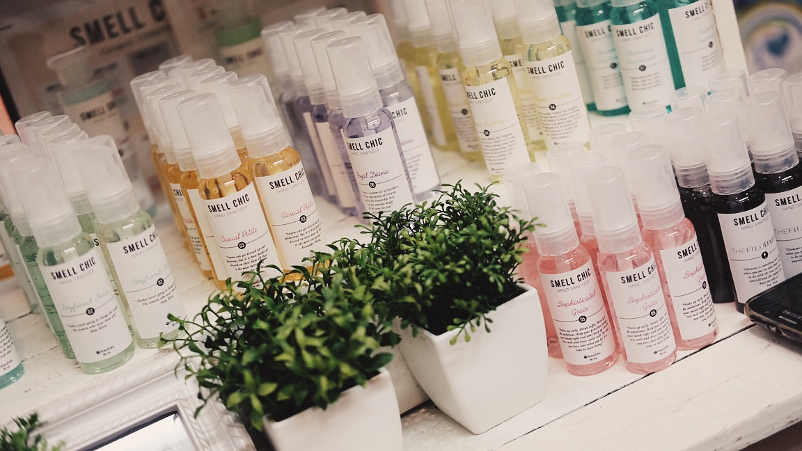 My favorite home an sanitizer brand, Smell Chic. There's now a Jo Malone-inspired scent yey. Go for Olive or Green Tea!